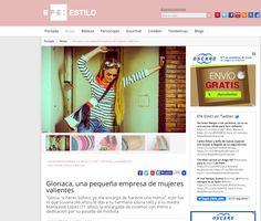 Reportaje a Gloriaca en la Agencia EFE 15/07/2014 http://www.efeestilo.com/noticia/gloriaca-los-bolsos-que-convierten-en-belleza-la-imperfeccion/