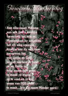 Wees, Afrikaanse Quotes, Goeie More, Happy Mothers Day, Birthday Wishes, Special Day, Me Quotes, Birthdays, Anniversaries