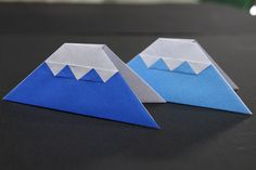 Origami And Kirigami, Origami Art, Diy And Crafts, Crafts For Kids, Paper Crafts, Japanese New Year, Japanese Origami, Mini Albums, Fuji