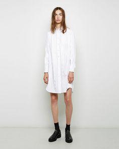 Sacai | Grosgrain Striped Shirtdress | La Garçonne