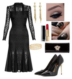 """wedding time"" by yasmina33 on Polyvore featuring Temperley London, Tom Ford, Lagos and Versace"