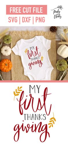 First Thanksgiving Cut File for Silhouette & Cricut - Poofy Cheeks