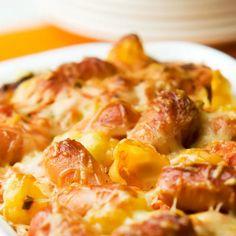 Fodmap Recipes, Hawaiian Pizza, Herbal Remedies, I Love Food, Pasta Dishes, Potato Salad, Macaroni And Cheese, Herbalism, Sausage