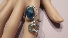 Adjustable Wire Wrapped Sea Glass Ring/ Handmade/ Hand Crafted/ Boho by NellieAnneDesigns on Etsy