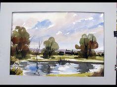 Watercoloring demo with Alan Owen - YouTube