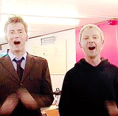 Doctor/Master marching 500 miles (David Tennant and John Simm)