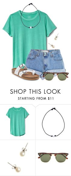 """You can get these fake Birks from Target for only $30!!!!!!"" by flroasburn ❤ liked on Polyvore featuring Gap, Levi's, J.Crew and Ray-Ban"