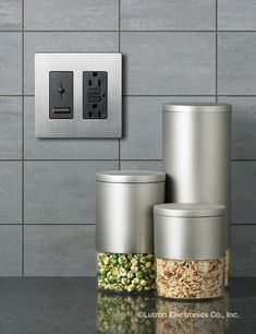 Complement the sleek look of your kitchen with color-matched controls. http://www.lutron.com/en-US/Residential-Commercial-Solutions/Pages/Residential-Solutions/ColorStyleFabrics/ColorStyleFabrics.aspx
