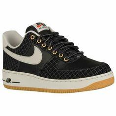 Nike Air Force 1 - Low - Men's $89.99 Selected Style: Black/Light Bone/Gum Light Brown Width D: Medium Product #: 88298095
