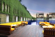 another angle of the pool at the Oberoi Gurgaon,