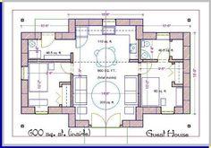 (440), straw bale house plan, 440 sq. ft.