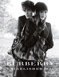 Sam Riley & Rosie Huntington-Whiteley for Burberry