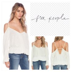 """Free People Cream Adelia Boho Chic Top.  NWT. Free People Cream Boho Chic Pullover Top, 100% viscose, machine washable, 20.5"""" armpit to armpit (41"""" all around), 19"""" arm inseam, 28"""" front length, V-neckline, V-back, off the shoulders three quarter sleeves, spaghetti straps, relaxed fit, elactercized cuffs and hem, measurements are approx.  No PayPal...No Trades... Free People Tops"""