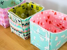 Sew a Fat Quarter-Sized Fold Up Basket!