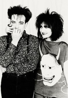 Robert Smith (The Cure) and Siouxise (Siouxise and The Banshees)