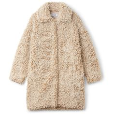 Janis Fur Coat - White - Jackets & coats - Weekday ($180) ❤ liked on Polyvore featuring outerwear and coats