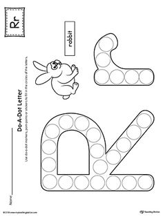 Letter R Do-A-Dot Worksheet (Color) Worksheet.The Letter R Do-A-Dot Worksheet in Color is perfect for a hands-on activity to practice recognizing the letters of the alphabet and differentiating between uppercase and lowercase letters. Letter R Activities, Letter R Crafts, Alphabet Crafts, Alphabet Worksheets, Numbers Preschool, Preschool Letters, Preschool Themes, Dot Letters, Do A Dot