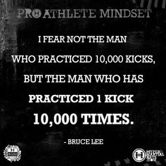 Inspirational Quote by Bruce Lee for a Pro Athlete Mindset | Hyper Martial Arts