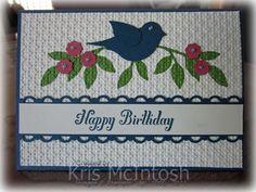 Bird punch birthday card