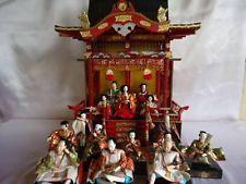SHOWA Japanese Samurai Geisha Emperor Empress HINA GOTEN Palace Doll Ningyo Set