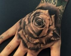 black and grey rose tattoo by francisco sanchez alhambra