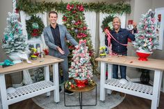 Home And Family Crafts, Home And Family Tv, Home And Family Hallmark, Hallmark Homes, Hallmark Christmas, Christmas Kitchen, Christmas Fun, White Christmas, Small Artificial Christmas Trees