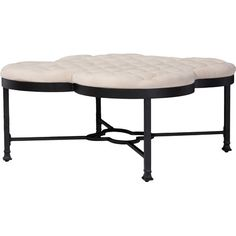 A fresh take on statement vintage industrial design, this classic quatrefoil shape will be a center piece of your livingroom. The Branagh features beige g...
