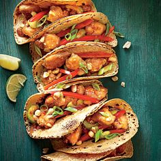 Sesame Chicken Tacos | Baja and Beijing collide in a healthy new way with taco night.