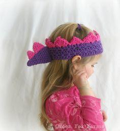CUSTOM Dinosaur Crown Crochet Girls Birthday Crown Dinosaur Spikes Crown Little Prince Stegosaurus Crown MADE to ORDER
