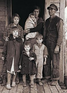 | Great Depression Iowa Farm Family 1936 Photograph -