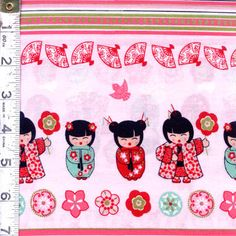 "These adorable Asian inspired prints are great for a worldly little girl! Pinks, purples and teals compliment these cute little girls and flowers. There is even a panel print for an adorable doll! ""Cherry Blossom Festival"" by Mitzi Powers for Benartex is now available at the Fabric Shack at http://www.fabricshack.com/cgi-bin/Store/store.cgi Just follow this pin to see the whole collection!"