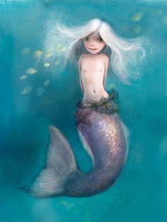 Little Mermaid spot illustration by ~Lovettart