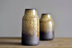 Vases. Black Mountain clay. Yellow Salt glaze.