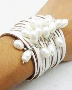 FRESHWATER PEARL LEATHER CUFF Bracelet ♥✤ | Keep the Glamour | BeStayBeautiful