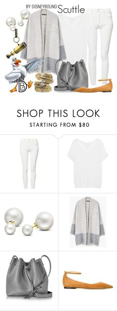 """""""Scuttle"""" by leslieakay ❤ liked on Polyvore featuring Mother, True Religion, Allurez, MANGO, Lancaster, Jimmy Choo, Natalie B, disney, disneybound and disneycharacter"""