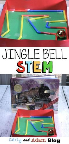 12 Days of Christmas STEM: (Day 2 The Polar Express Jingle Bell Maze) One of our favorite ways to increase student engagement during the craziness of the holidays is with STEM. To make it easy for teachers to implement STEM during this busy time in the classroom, we have compiled a list of 12 Days of Christmas STEM activities. #STEM #thepolarexpress