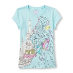 Girls Disney 'Princess Power' Graphic Tee