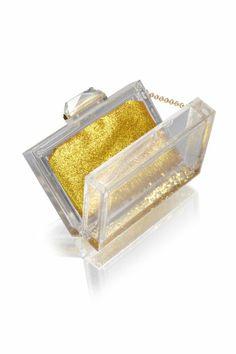 Clear Winners: 5 transparent Clutches for awards season | Glitzy Clutch | hollywoodreporter | KOTUR Glitter Globe #KOTUR