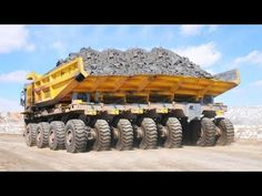 10 Extreme Dump Trucks Excavator Unloading Biggest Equipment, World's Most Powerful Heavy Oversize Load Transportation 10 Extreme Biggest Liebherr, Terex, KO. Big Rig Trucks, Dump Trucks, Cool Trucks, Heavy Construction Equipment, Heavy Equipment, Construction Machines, Earth Moving Equipment, 6x6 Truck, Mining Equipment