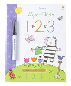 Each page of this paperback book is filled with ways to teach little learners about numbers. The included, dry-erase maker makes it easy to explain numbers, and the writing easily wipes away for repeated practice.