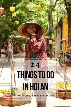 Hoi An is one of the best places to visit in Vietnam.  Its a UNESCO World Heritage site with so much to do and see.  You can eat great food, relax on the beach, get a massage, amazing custom tailoring, watch the sunset, have a cultural adventure or rent a bike for even more amazing viewpoints.  Check out 24 Wonderful Ways to Experience Hoi An, Vietnam on an amazing travel blog    Live, Travel, Teach