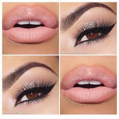 I love this natural lip with this eye color