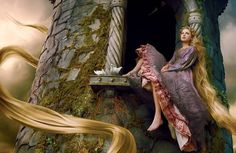 Taylor Swift as Rapunzel - Disney Shoot - Photo by Annie Liebowitz