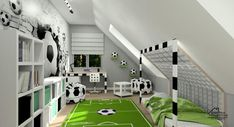 Bedroom Themes, Kids Bedroom, Master Bedroom, Bedroom Decor, Soccer Room Decor, Cute Room Decor, Football Rooms, Awesome Bedrooms, Boy Room