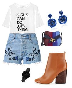 """""""Girls Can Do Anything"""" by vartan-tina on Polyvore featuring Tory Burch, Ranjana Khan and CLUSE"""