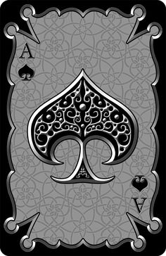 I've no idea of in what category I should have put this on. Ace of Spades need I say more? The pattern in the background can be seen properly her. Ace of Spades Spade Tattoo, Playing Cards Art, Ace Of Spades, Card Tattoo, Objet D'art, Art Design, Deck Of Cards, Skull Art, Business Card Design