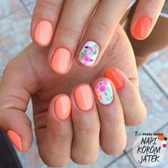 29 Ideas nails design summer products for 2019 Nail Art Designs, Colorful Nail Designs, Nails Design, Get Nails, Love Nails, Shellac Nails, Nail Nail, Super Nails, Artificial Nails