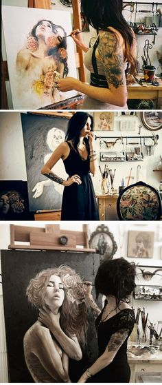 Charmaine Olivia #artist #artistatwork #studio: