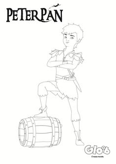 Para colorir: Peter x Gancho - Atividades - Peter Pan - Mundo Gloob