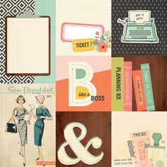 Found it at Blitsy - NEW! Carpe Diem The Reset Girl Double-Sided Elements Cardstock - Journaling Cards